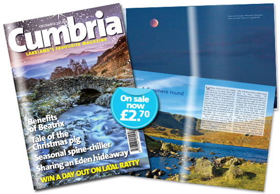 Cumbria magazine, article about lunar eclipse over Lanngdale Pikes