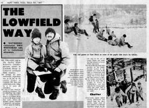 The Lowfield Way an early newspaper article