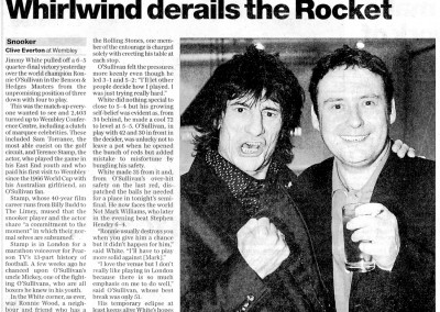Ronnie Wood meets Jimmy White