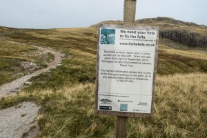 Crinkle Crags Footpath Repair Notice
