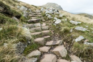 Footpath repair at Crinkle Crags