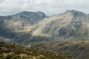 Scafell and Scafell Pike from Crinkle Crags