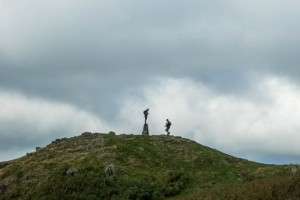 Walkers on Loughrigg Fell