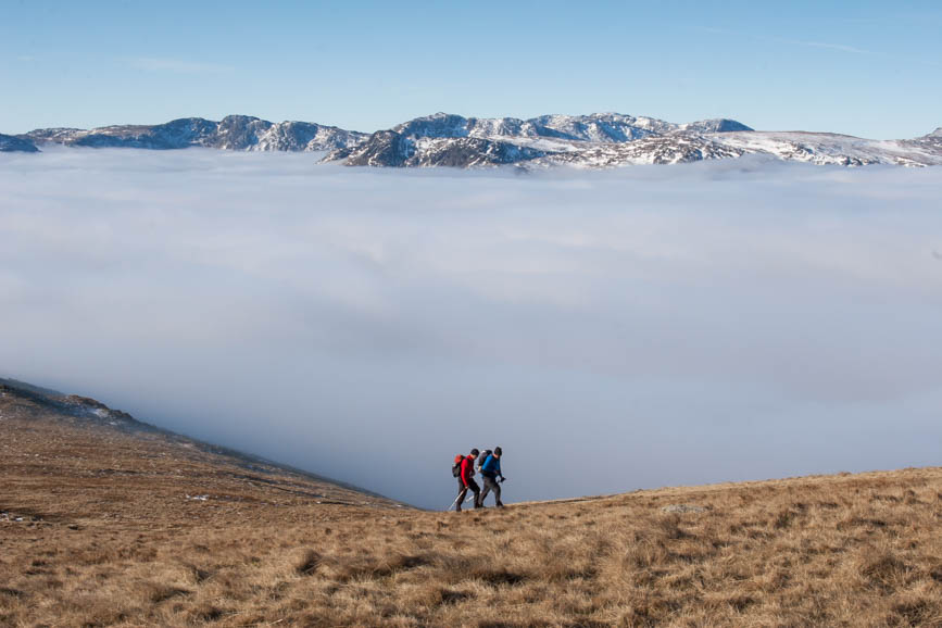 Temperature inversion, walkers on Great Rigg